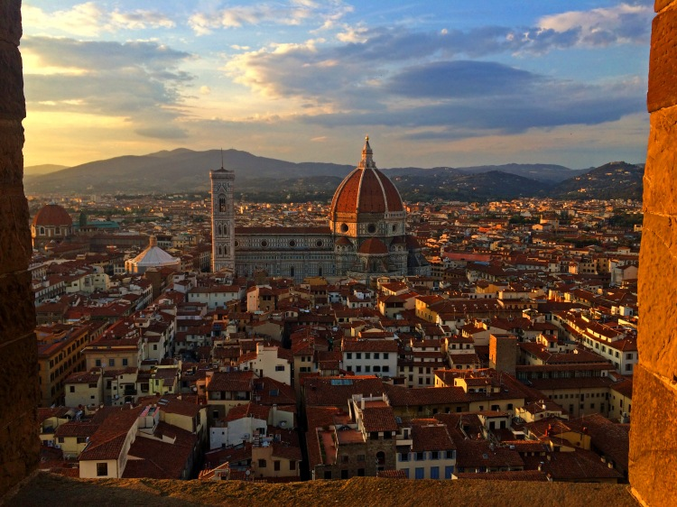 View of the Duomo from the Palazzo Vecchio tower. (Photo by Alyssa Gregory)