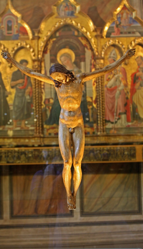 Michelangelo's crucifix.