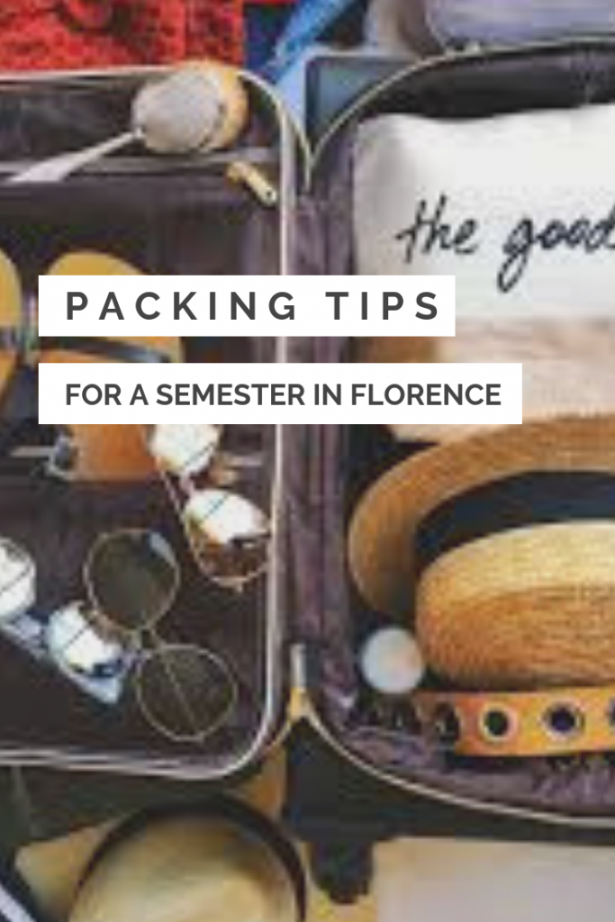 Florence Student Travels Packing