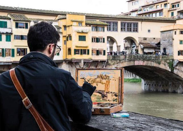 David Cassar Original Florence Landscape Cool Souvenir Campus Florence Discount