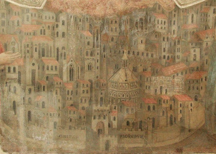 Depiction of Florence in the 14th century.