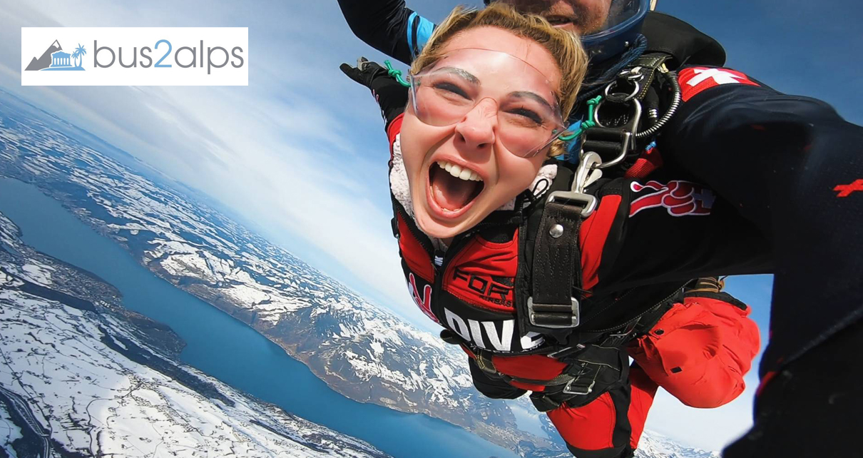 Bus2alps Interlaken Weekend Skydive Save $$$ Promo Code CAMPUS