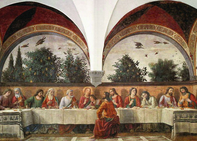 Last Supper Ghirlandaio Ognissanti Church and Convent Florence