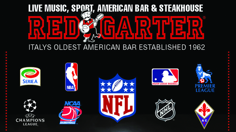 Red Garter Florence Burgers Steakhouse Sunday Sports NFL Fiorentina