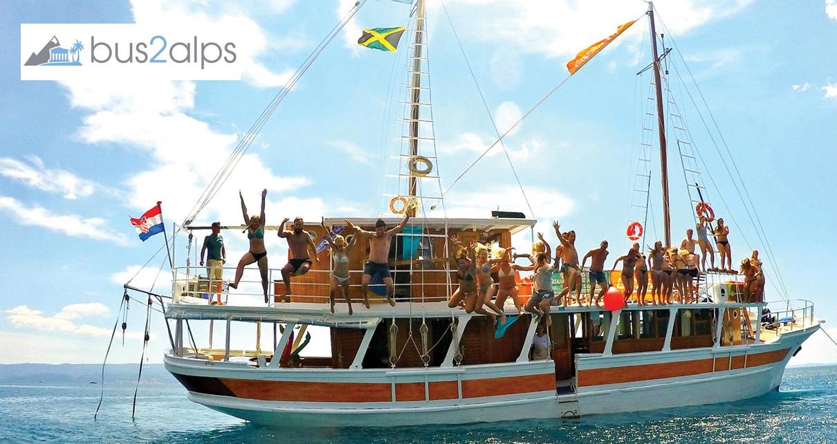 Island Hopping Boat Tour Bus2alps Split Croatia Save $$$ Promo Code CAMPUS