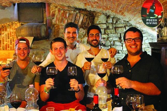 PIno's Sandwiches POzzo DiVino Wine Tasting Florence