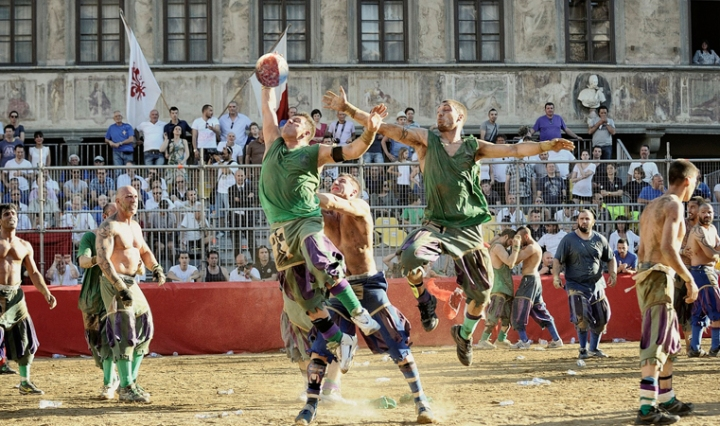 Calcio Storico Historic Medieval Football Match in Florence
